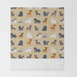 EASTERN EUROPEAN DOGS Throw Blanket