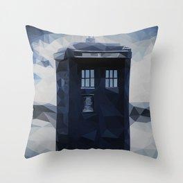 Doctor who - Tardis polygon Throw Pillow