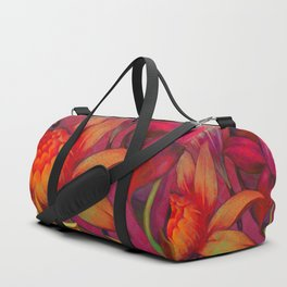"""Retro Giant Floral Pattern"" Duffle Bag"