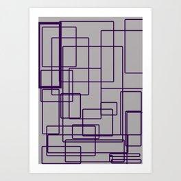 rectángulos superposiciones Art Print