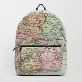 Vintage Map of Spain and Portugal Backpack