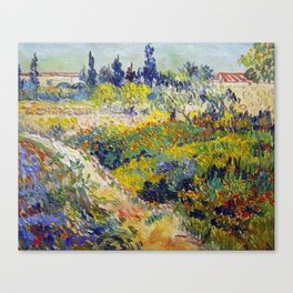 Vincent Van Gogh Flowering Garden Canvas Print
