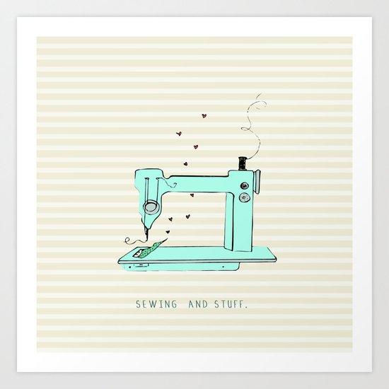 sew and stuff... Art Print