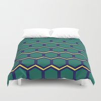 hexagon Duvet Covers featuring hexagon by myepicass