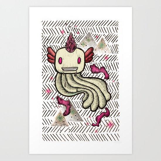 Mad Squillie Art Print
