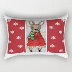 Winter Coat Rectangular Pillow