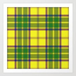 Checkered style Art Print