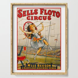 Vintage Sells Floto Circus Ad Serving Tray