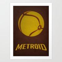 metroid Art Prints featuring Metroid by Jynxit