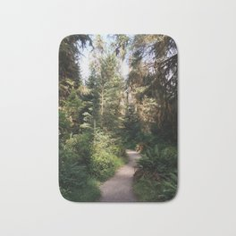 Path through the Hoh Rainforest Bath Mat