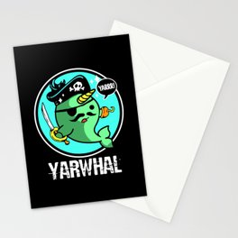 Narwhal Yarwhal Pirate Sea Unicorn Hook Whale Stationery Cards