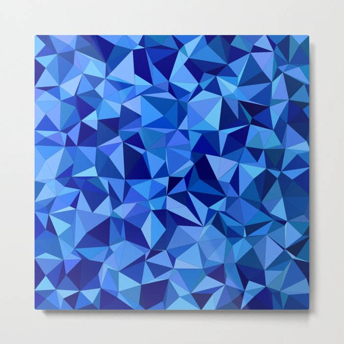 Blue tile mosaic Metal Print