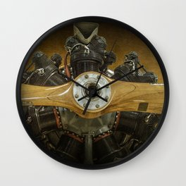 Airplane Propeller of a Fairchild PT-23 Cornell Monoplane Wall Clock