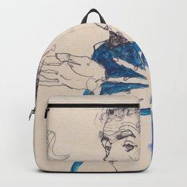 "Egon Schiele ""Gustav Klimt im blauen Malerkittel"" Backpack"