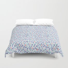 Cool Blue, Orange and Turquoise Geometric Pattern Duvet Cover