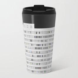 Wobbly Building and Colored Windows Travel Mug