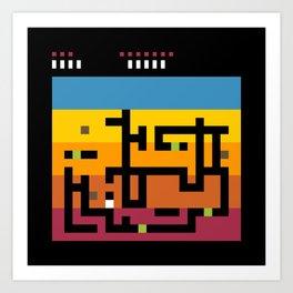 Minimal NES: Dig Dug Art Print