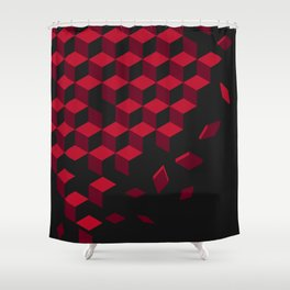 heart-shaped pattern Shower Curtain