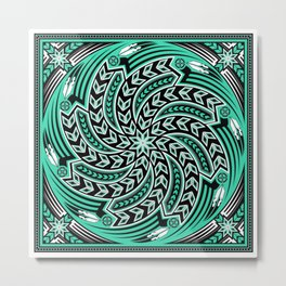 Wind Spirit (Aqua) Metal Print