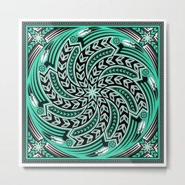 Wind Spirit (Aqua) Metal Print