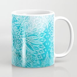 Fade to Teal - watercolor + doodle Coffee Mug