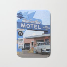 Route 66 - Blue Swallow Motel Bath Mat