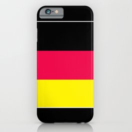 Striped , black , yellow , red iPhone Case