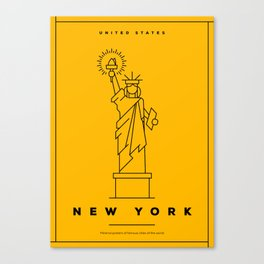 Minimal New York City Poster Canvas Print