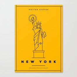 Minimal New York City Poster Canvas Print