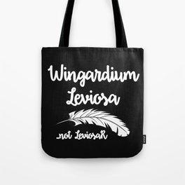 Wingardium Leviosa - black Tote Bag