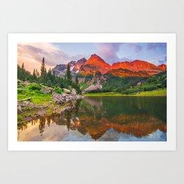 Rocky Mountain Glow Art Print