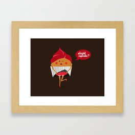 Cheeky Cupcake! Framed Art Print