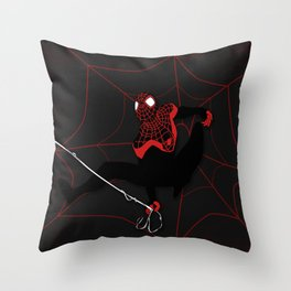 Ultimate Spider-man Miles Morales Throw Pillow