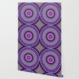 purple feathers Mandala Wallpaper