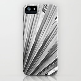 Black and White Palm Leaf iPhone Case