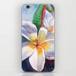 Tropical Plumeria Flowers iPhone Skin