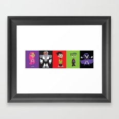 Teen Titans Go Framed Art Print