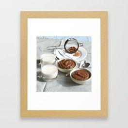 Breakfast Dessert Smoothie Framed Art Print