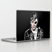 alex turner Laptop & iPad Skins featuring Alex Turner Skull Art by zombieCraig by zombieCraig