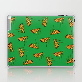 Pepperoni Pizza Dripping Cheese by the Slice Pattern (green) Laptop & iPad Skin