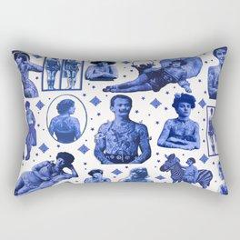 My Delft-Blue Tattoo Rectangular Pillow
