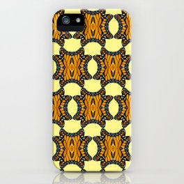 Monarch Butterfly Patterned Print in Orange Yellow and Brown iPhone Case