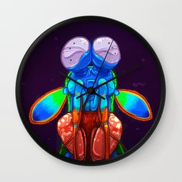 Intense Mantis Shrimp Wall Clock