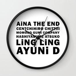 BiSH Members Names Wall Clock