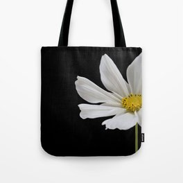 White Cosmos Flower Tote Bag