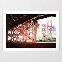 Beams of Golden Gate  Art Print