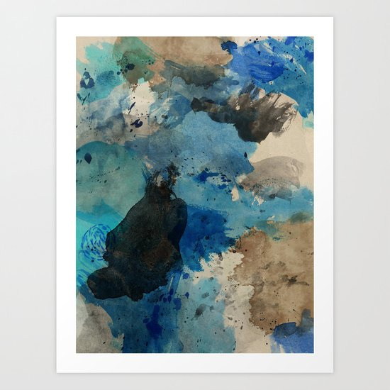 Secret Mediterranean Beach Art Print