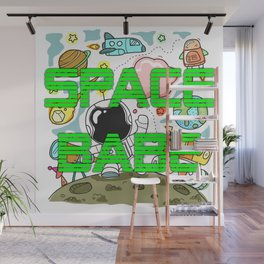 Space Babe Wall Mural