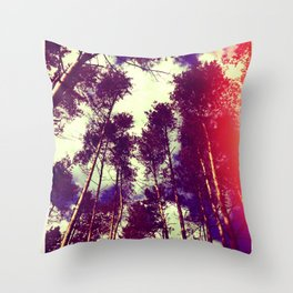 There is a pleasure in the pathless woods... Throw Pillow
