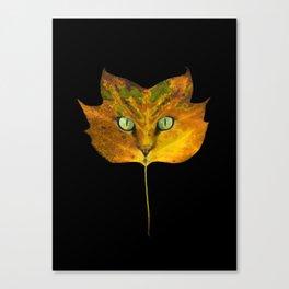Autumn Cat-5 Canvas Print